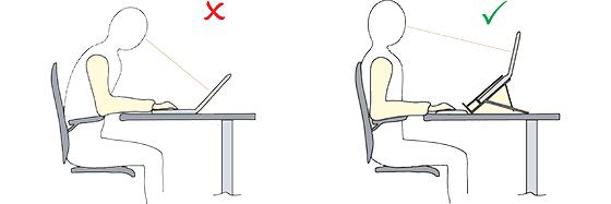 Ergonomisch werken met een laptop - mobiele laptophouder